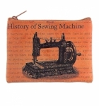 Sewing Machine Vegan Leather Coin Purse Tacony