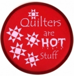 Quilters are Hot Stuff Hand Fan