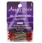 IBC Red Glass Head Pins