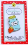 Mason Jar Enamel Pin by Fig Tree Quilts