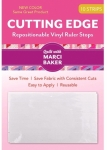 Cutting Edge - Repositionable Vinyl Ruler Stops - White