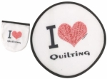 I Love Quilting Hand Fan