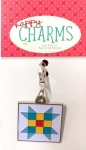 Lori Holt Nine-Patch Star Enamel Happy Charm