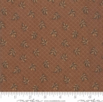 MODA FABRICS - Hickory Road - Brown With Brown Leaves