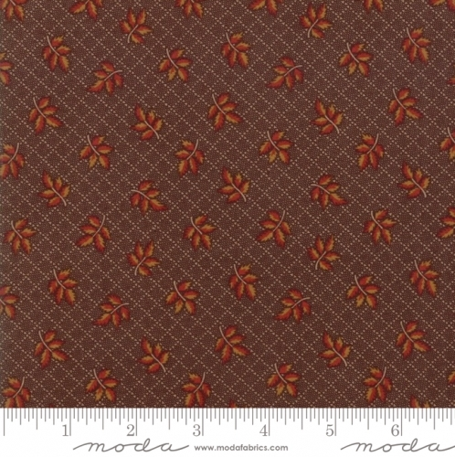 MODA FABRICS - Hickory Road - Brown With Leaves
