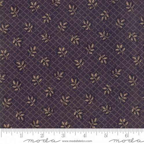 MODA FABRICS - Hickory Road - Blue With Leaves