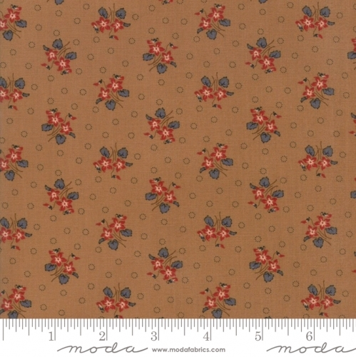 MODA FABRICS - Hickory Road - Brown Floral