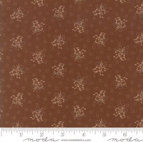 MODA FABRICS - Hickory Road - Medium Brown Tonal Floral