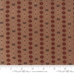MODA FABRICS - Hickory Road - Brown With Red Medallions