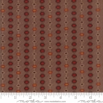 MODA FABRICS - Hickory Road - Tan /Red & Yellow Striped Medallions