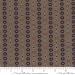 MODA FABRICS - Hickory Road - Gray Striped Medallions
