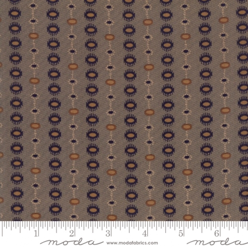 MODA FABRICS - Hickory Road - Gray Striped Medallions