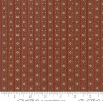 MODA FABRICS - Hickory Road - Brown/Red Stripe