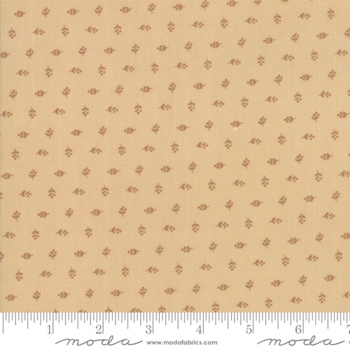 MODA FABRICS - Hickory Road - Brown Tiny Blossoms