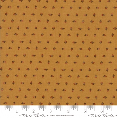 MODA FABRICS - Hickory Road - Gold Tiny Blossoms