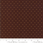MODA FABRICS - Hickory Road - Brown With Beige Polka Dots