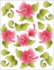 Clearance - Tattoo Elementz Hawaiian Holiday Pink - Printed on White