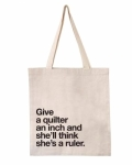 Give an Inch Tote Natural by Quilt Happy