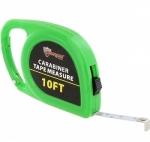 Green Carabiner Tape Measure 10ft