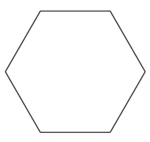 Sue Daley - 1 inch Hexagon Template 701715774513 - Quilt in a Day ...