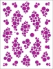 Clearance - Tattoo Elementz Bubble Violet - Printed on White