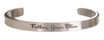 Clearance - Quotable Cuffs Bracelet - Follow Your Bliss