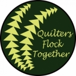 Quilters Flock Together Hand Fan