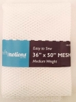 Mesh Fabric, Medium Weight, White 36 in x 50 in
