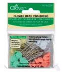 Clover Flower Head Pins Size 32 - 2in 100ct 4 colors