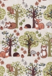 Large Hard Cover Fabric Notebook - In Forest - 5.75in X 8.25in
