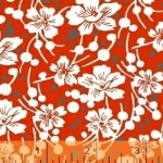 BAUM TEXTILES - Mimosa - Red - FB7049