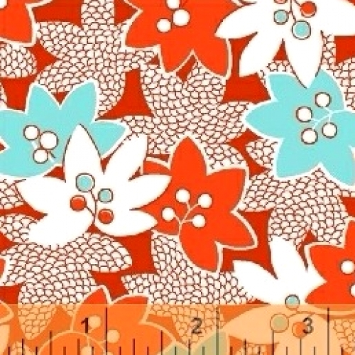 BAUM TEXTILES - Mimosa - Red - FB7050