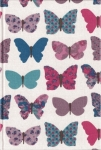 Large Hard Cover Fabric Notebook - Butterflys - 3in X 4in