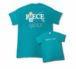 Teal 3X Cut Piece Press & Quilt T-Shirt