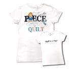 Clearance - White 3X Cut Piece Press & Quilt T-Shirt