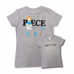 Gray 3X Cut Piece Press & Quilt T-Shirt
