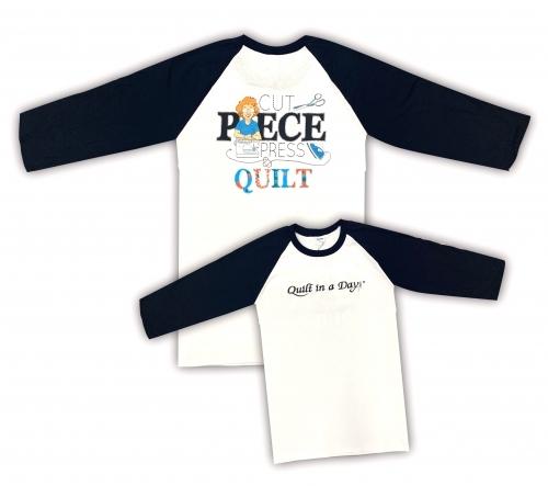 Black and White 3X Cotton 3/4 Sleeve Raglan T-Shirt