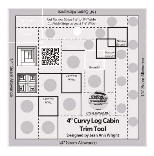 Creative Grids 4 inch Curvy Log Cabin Trim Tool CGRJAW6MINI