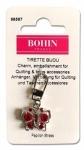 Bohin Red Strass Butterfly Zipper Puller