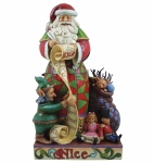 Jim Shore -  Checking It Twice -Two Sided Naughty/Nice Santa Figurine