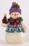 Jim Shore - Pinecones And Holly - Pint Sized Snowman w/Pinecone Figurine
