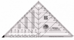 Creative Grids Half Square 4-in-1 Triangle Ruler CGRBH1
