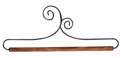 6 inch Double Scroll Holder With Dowel by Ackfeld