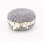 Wooly Felted Wonders - Gray Pincushion 4.5 x 2.5