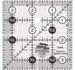 Creative Grids Quilting Ruler 3 1/2in Square  CGR3 - includes Mint Twist Table Topper Pattern