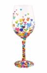 Designs by Lolita Wine Glass - Hearts-a-Million