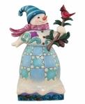 Jim Shore - Wonderland Snowman w/ Cardinal Figurine