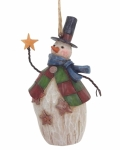 Jim Shore - Folklore Snowman/Top Hat Hanging Ornament