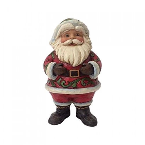 Jim Shore - By Golly Be Jolly - Pint Sized Jolly Santa in Boots Figurine