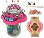 Tutu Pink Mason Jar Sewing Caddy by SmartNeedle